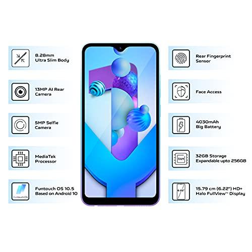 Vivo Y1s (Aurora Blue, 3GB RAM, 32GB Storage) with No Cost EMI/Additional Exchange Offers 4