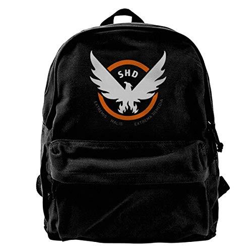 N / A Tom Clancy's The Di-Vision Paket Leinwand Rucksack Klassische Schwarze Schultasche Schüler Gehen Zur Arbeit