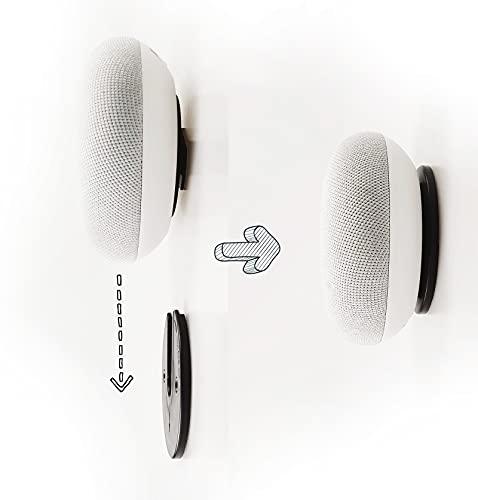 sciuU Giratorio Disco Soporte, [2 Piezas] Desmontable Soporte de Pared Universal, Compatible con Google Home Mini, Discos Duros Externos, Altavoces Portátiles, Enrutador, TV Box, Smartphone, etc.