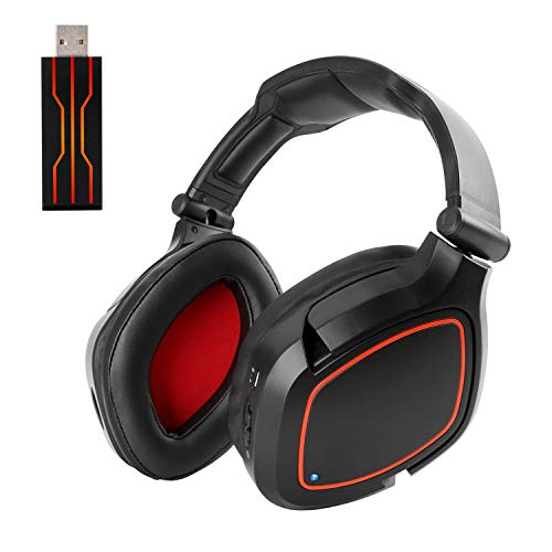 Wireless Gaming Headset Headphones USB for PS4 PC Computer with Microphone Over Ear Stereo Virtual 7.1 Surround Sound
