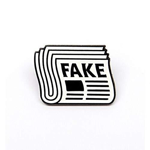 Gefälschte Pin Fake News Broschen lustige Abzeichen Broschen Anstecknadeln