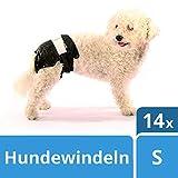 SwissPet Einweg-Hundewindeln für Welpen, Rüden und Hündinnnen, Verschiedene Größen XS - XXL (Gr. S (14 STK))