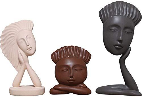 Escultura Decorativa Salon,Estatuas Creativas 3 Piezas / Escultura De Personajes Creativos Arte...