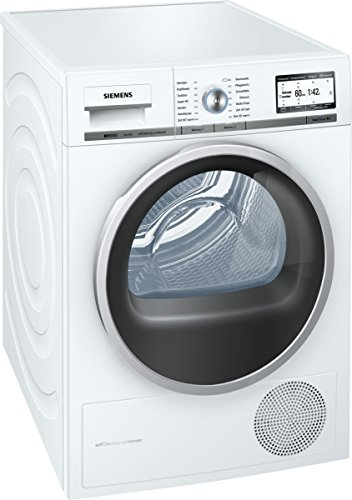 Siemens WT48Y7W3 Independiente Carga frontal 8kg A+++ Blanco - Secadora (Independiente, Carga frontal, Condensación, Blanco, Giratorio, Derecho)