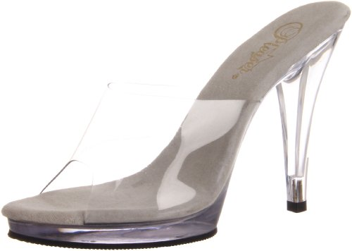 Pleaser Fla401/c/m, Damen Pumps, Transparent (Clear), 39 EU (6 UK)