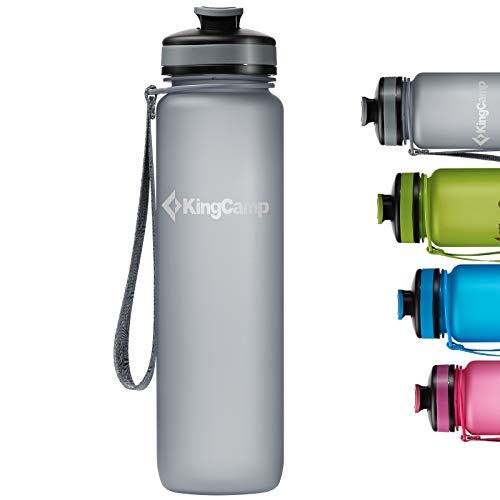 KingCamp Botella de Agua Deportiva Bicicleta para Niños Plástico Impermeable y Reutilizable 1000ml sin BPA