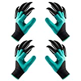 Garden Gloves with Claws for Women and Men Waterproof Garden Gloves for Digging Planting Breathable Gardening Gloves for Yard Work 2 Pairs