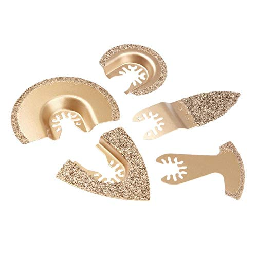 HARIKA 5Pcs/Set Diamond Carbide Oscillating Multi Tool Saw Blade For Fein Bosch Multimaster Renovator Power Tools Metal Cutting