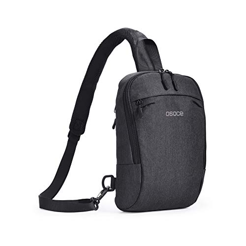 Sling Chest Cross body Bag,OSOCE Shoulder Backpack Pack For Travel Sports (Dark Grey)
