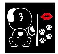 MDGCYD 車 ステッカー犬 R 23 * 25Cm3Dカーステッカーかわいいダルマチア犬漫画面白いムービングテールステッカーカースタイリングウィンドウワイパーデカールリアフロントガラスステッカー