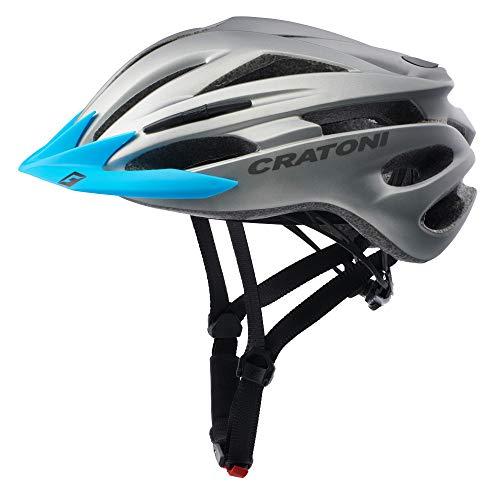 Sonderedition Cratoni Pacer Fahrradhelm Mountainbike Allround Helme (S-M (54-58 cm) (anthrazit, Visier blau)