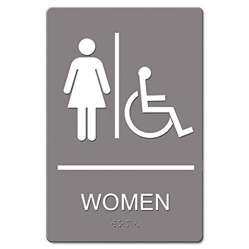 USS4814 - ADA Sign Women Restroom Wheelchair Accessible Symbol