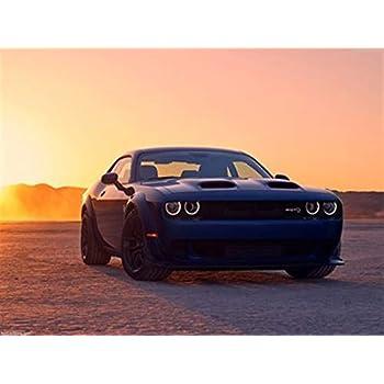 Dodge Challenger Hellcat 2015 Banner Vinyl Decor Sign Poster Gift Him Many Sizes