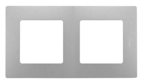 Legrand 448397042 afdekplaat, dubbel, groen/Hor, aluminium
