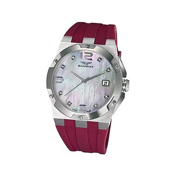 Sandoz Reloj Analog-Digital para Womens de Automatic con Correa en Cloth