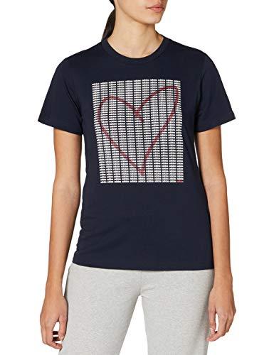 adidas, Maglietta da Donna Adi Heart, Donna, GD4997, Color Inchiostro Legink, S