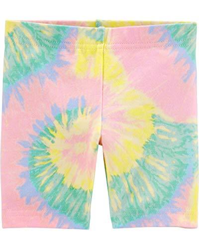 Osh Kosh Girls' Bike Shorts, Tie-Dye, 5T