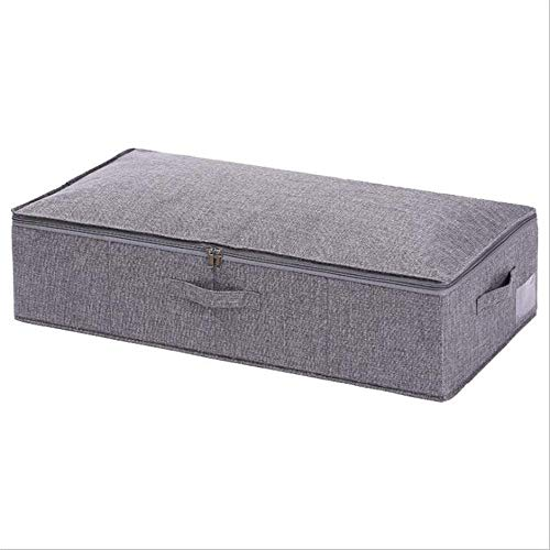 Zuoao Under the bed storage box, with a zipper oversized storage bag, can store clothes, shoes, blankets, clothes, sweaters,Grey-95×48×17CM