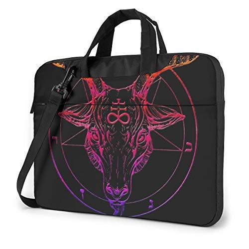 TIERA BENDER Herren Laptoptasche Pentagram with Demon Baphomet Satanic Goat Head Briefcase Computer Bag Business Crossbody Women Notebook Laptop