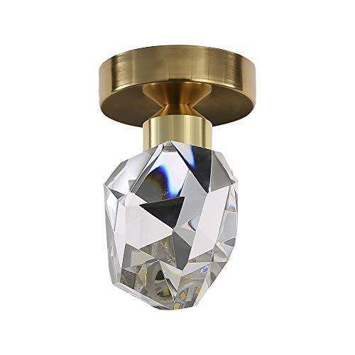Lámpara de techo de cristal moderna, luz de pasillo, luces de pasillo...