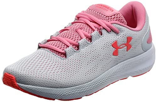 Under Armour UA W Charged Pursuit 2, Zapatillas de Running Mujer, Gris (Halo Gray/White/Lipstick), 38 EU