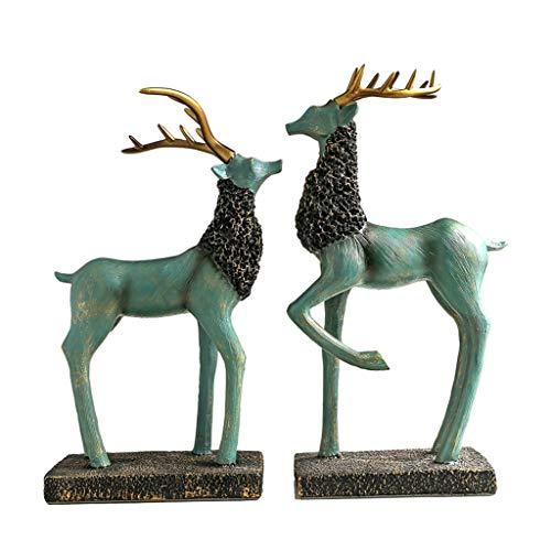 Desktop-Skulptur Deer Ornaments Skulptur Wohnaccessoires Moderne Elch TV-Schrank Weinschrank Veranda Möbel Wohnzimmer Hochzeitsgeschenk Nordic