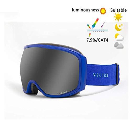JayQm Skibril mannen vrouwen Anti Nebbia UV400 Sciare snowboard bril Sferico bril grote bril snowboard glazen