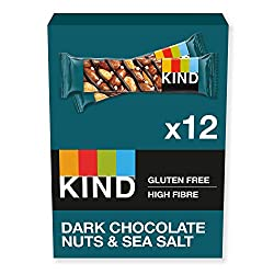 Dark chocolate & sea salt bars are the perfect blend of a tasty and healthy snack A whole nuts snack with 60% nuts that will give you the energy to keep you going for longer KIND bars can be eaten any time of the day - as a delicious low carb and low...