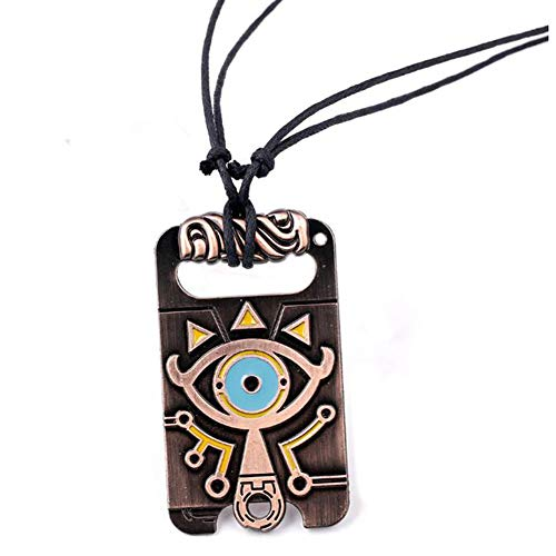 maipuxuan Vintage Unisex Necklace,The Legend of Zelda Breath of The Wild Sheikah Eye Dog Tag Necklace Cosplay