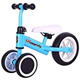 CAIMEI Trike Balance, Bike Kids Leichtes Walking Training Dreirad 1-3 Jahre Ohne Tretauto (Farbe: Weiß),Blau
