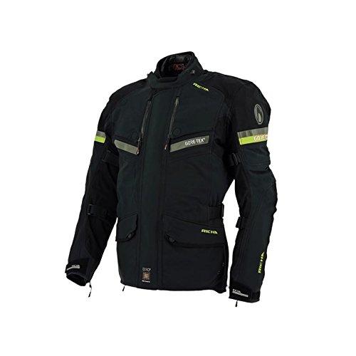 Richa Atlantic GTX Gore-Tex impermeabile moto giacca tessile nero/fluo