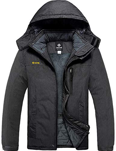 GEMYSE Men's Mountain Waterproof Ski Snow Jacket Winter Windproof Rain Jacket (Graphite Grey,M)