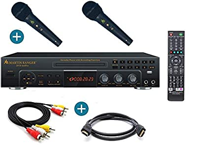 Marin Ranger HDDVD950PRO HDMI Digital Karaoke Player with Mic Mixer and USB Recorder With two Free DM-11PRO