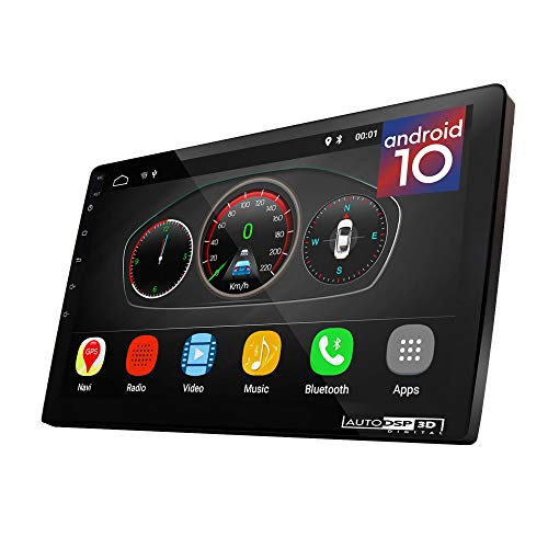 """UGAR 9"""" EX10-S Universal Extended Version Car Stereo 2GB 16GB Android 10.0 Head Unit Double Din Touch Screen Radio Auto Car Audio Indash GPS Navigation with Bluetooth WiFi Mirroring"""