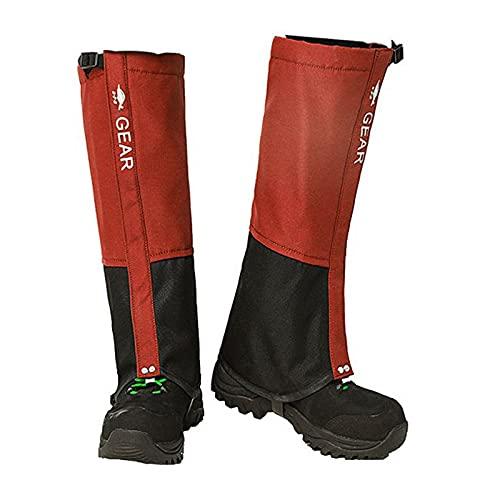 QIANDENG Polainas de Senderismo, Polainas de Nieve Impermeable Ligeras Transpirable al Aire Libre Polainas Unisex para Montaña, Esquí, Escalada, Caza, Camping