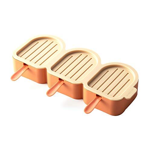 LIAWEI Moldes de helado, 3 moldes de paletas reutilizables d