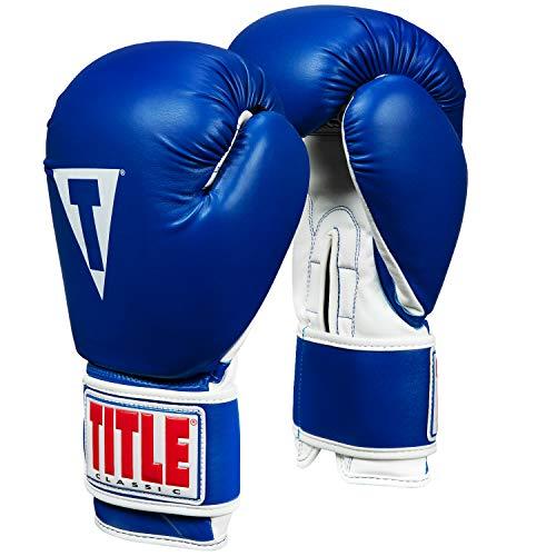 Title Classic Pro Style Training Gloves 3.0, Blue/White, 14 oz