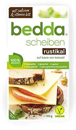 bedda - SCHEIBEN Rustikal, 150g - Pflanzliche Käsealternative Für Alle, Die Es Würzig Mögen 1er Pack