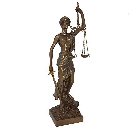 Mayer Chess Mysticalls Dekofigur Justitia Göttin der Gerechtigkeit Skulptur bronziert 38 cm