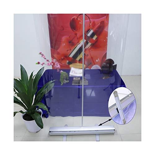 WZNING Pantalla de Lona Transparente con Base de Aluminio, Roll up Stands, Barrera de Oficina, Impermeable fácil de Limpiar, para la Escuela Durable y Protector (Color : Clear, Size : 100X200CM)