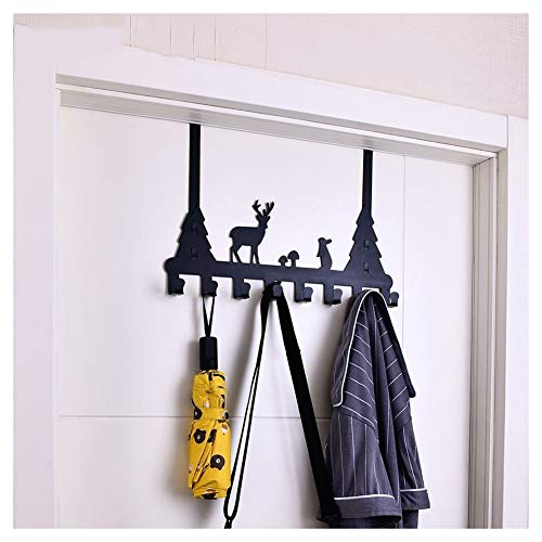7 Haken Animal Pattern Coat Muurhaken Rekken, Jas En Hoed Hanger Key Rack, Home Improvement Adhesive Hooks Boven De Deur Kleerhanger (Color : Type 1)
