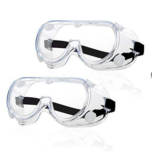 2 Piezas Gafas de Seguridad,Gafas de Protección Ocular Antivaho, Talleres de Laboratorio, Sitios de Construcción de Laboratorio, Anti-Saliva, Anti-Saliva, Gafas de Seguridad para Usuarios