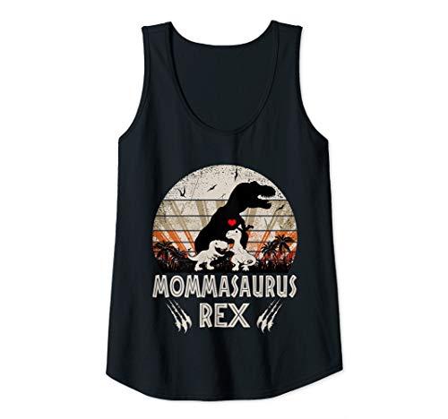 Donna Funny Mama Dinosaur Mama Saurus Dinosaur Women Mom Gift Canotta
