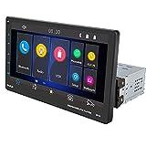 WEPARTICULAR One DIN 9 '' AutoRadio FM Bluetooth USB TF Reproductor Multimedia para Coche 1 DIN Pantalla táctil Auto Estéreo Soporte Enlace Espejo para Android e iOS