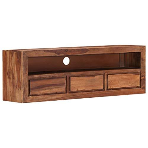 vidaXL Sheesham-Holz Massiv TV Schrank Board Tisch Möbel Lowboard Fernsehtisch Fernsehschrank Sideboard Fernseher Schrank Fernsehmöbel 120x30x40cm