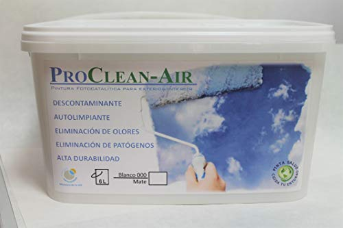 Pintura fotocatalítica blanca mate para exteriores e interiores con capacidad descontaminante (10 L)