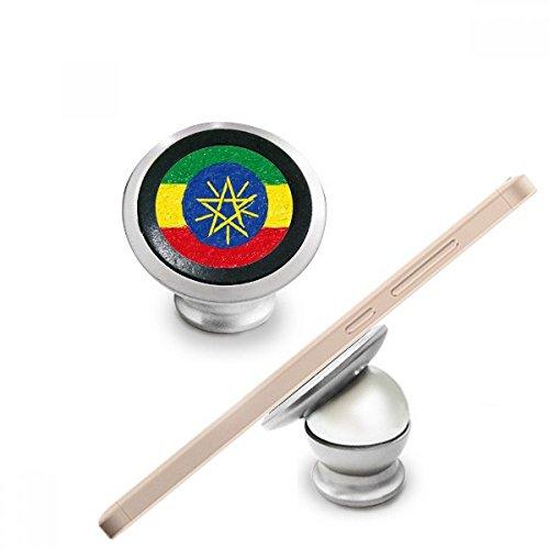 Rood Geel Groene Strepen Ethiopië Vlag Nationale Culturele Element Magnetische Telefoon Mount Auto Dashboard Houder voor Mobiele Telefoon 360 Graden Rotatie Gift
