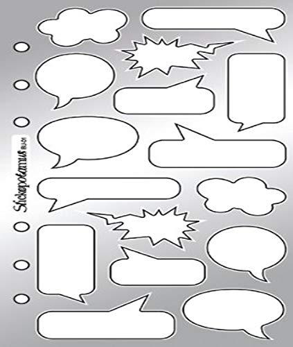 Sticko Classic Stickers, Comic Book Captions