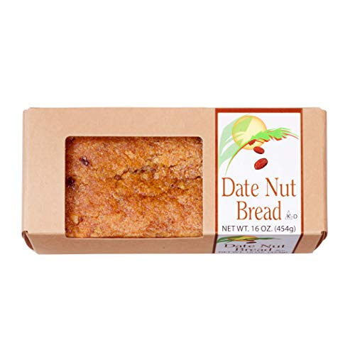 Classic Date Nut Bread, Full Flavor of Dates & Nuts, Crunchy Walnuts, Moist, Dense, Traditional Recipe in a 16 oz Loaf, Serves 8-10 - Certified Kosher