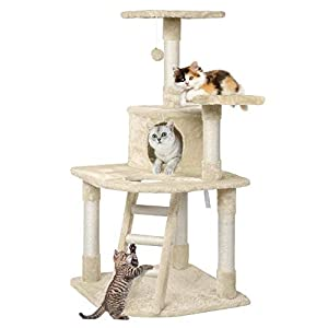 """Yaheetech 48"""" Cat Tree Tower with Spacious Condo, Cozy Platform and Replaceable Dangling Balls from Yaheetech"""
